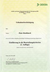 Dekra Teilnahmebescheinigung als Grundvoraussetzung für die MPU Beratung Vest Recklinghausen – MPU erfolgreich bestehen
